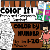Color It! Color By Number Prime  and Composite Numbers 1-2