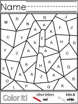 Color It! Letters A-Z ~ Uppercase Capital Letters ~ Letter Recognition