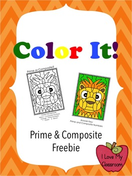 Color It! Prime and Composite Freebie