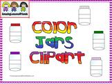 Color Jars Clipart