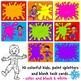 Color Kids Clip Art   Holi Festival Clip Art