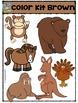 Color Kit Brown {P4 Clips Trioriginals Digital Clip Art}