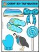 Color Kit Turquoise {P4 Clips Trioriginals Digital Clip Art}