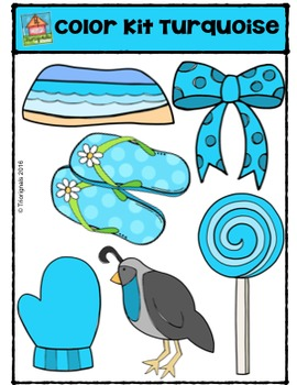 Color Kit Turquoise {P4 Clips Trioriginals Digital Clip Art}