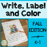 Write, Label and Color - Fall Writing Center