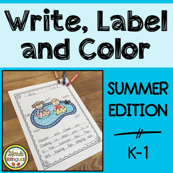 Color, Label and Write - Summer Edition