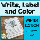 Write, Label and Color Winter Writing Center