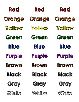 Color Labels