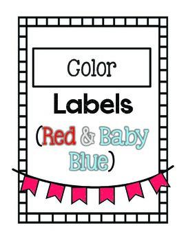 Color Labels (Red & Blue)