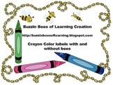 Color Labels with crayons and bees