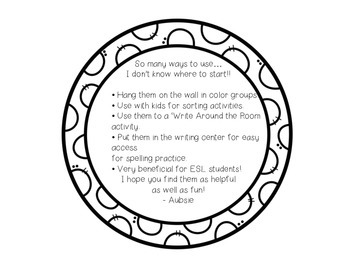 Color Learning Cards - WHITE