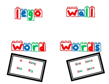 Color Lego Words for Word Wall