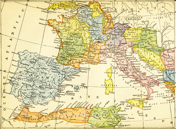 Color Map of the Roman Empire's Western Provinces