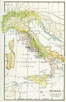 Color Map of Ancient Italy