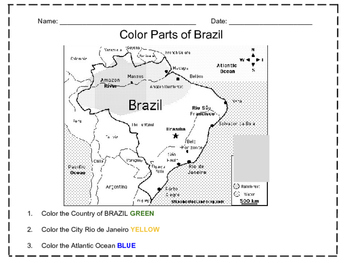Color Map of Brazil