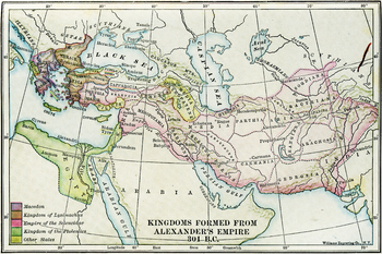 Color Map of Kingdoms formed from Alexander's Empire