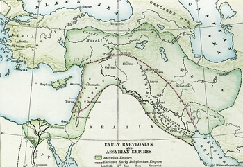 Color Map of the Early Assyrian and Babylonian Empires
