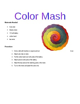 Color Mash – An Individual Light and Waves Lab