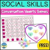 Speech & Language Social Skills Activity- Conversation Hearts Game Freebie