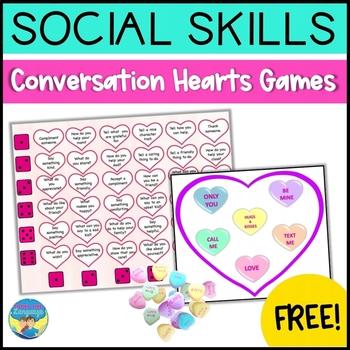 Social Skills Activity | Conversation Hearts Game Freebie