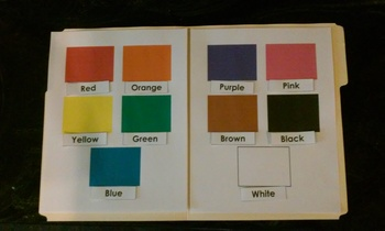 Color Match File Folder Game