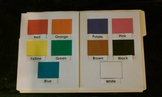 Color Match File Folder Game
