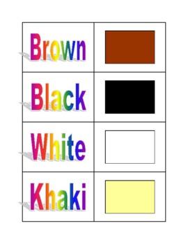 Color Match It Cards