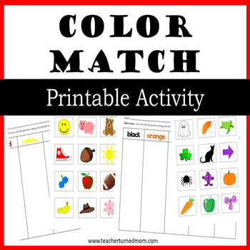 Color Match - Printable Activity (Lower Elementary - NO PREP, Print & Go)