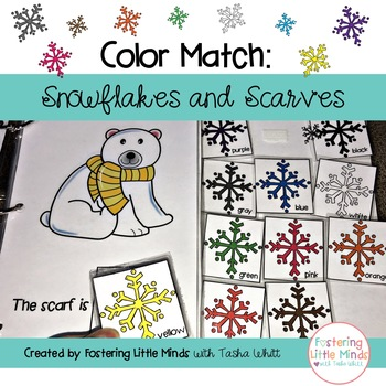 Color Match: Snowflakes and Scarves