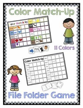 Color Match-Up File Folder Game