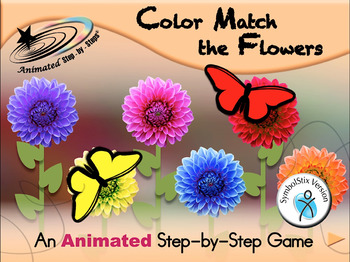 Color Match the Flowers - Animated Step-by-Step Game - SymbolStix