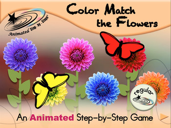 Color Match the Flowers - Animated Step-by-Step Game - Regular