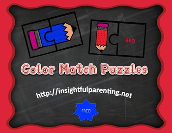Color Matching 2-Piece Puzzles