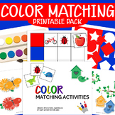 Color Matching Activities, Toddler Printable Busy Book, Learning Binder