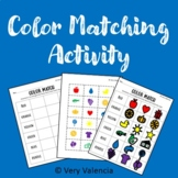 Printable Color Matching Activity (Distance Learning)