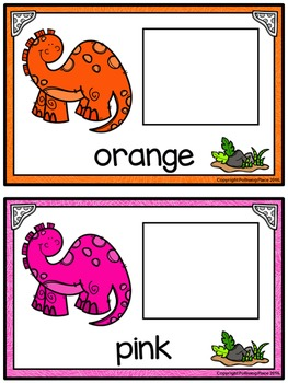 Color Matching Activity Set - Colorful Dinosaurs