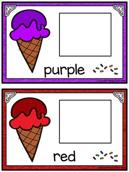 Color Matching Activity Set - Colorful Ice Cream Cones