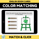 Color Matching BOOM CARDS Distance Learning