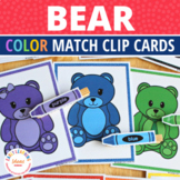 Color Matching Bears | Bear Color Matching Clip Cards for Preschool and Pre-K