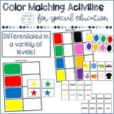 Color Matching Boards and Cards (work box, or math center)