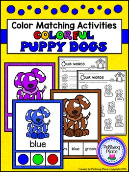 Color Matching Activity Set - Colorful Puppy Dogs
