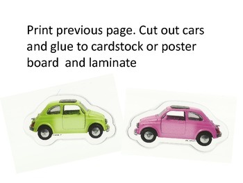 Color Matching Cars- file folder game