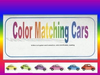 Color Matching Cars- file folder game