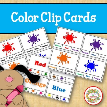 Color Matching Clip Cards