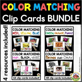 Color Matching Clip Cards Bundle