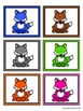 Color Words Matching Activity Set - Colorful Foxes
