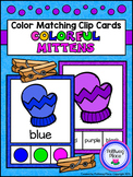 Color Matching Clip Cards - Colorful Mittens