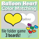 Color Matching, Color Sight Words with balloon hearts: fil