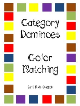 Category Dominoes - Color Matching