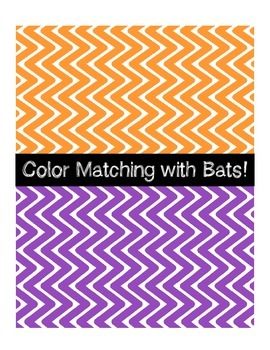 Color Matching File Folder - Bats Theme
